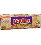 ISABEL -Thon Entier a l'huile Végétale 80G X3