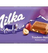 MILKA Tablette Chocolat Raisins et noix 100g