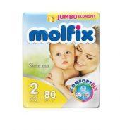 MOLFIX- Nr2 Couches bébé mini 80 unités