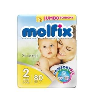 MOLFIX- Couches bébé mini 80 unités