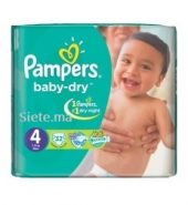 32 Couches Maxi Pampers T4 (7 – 18kg)