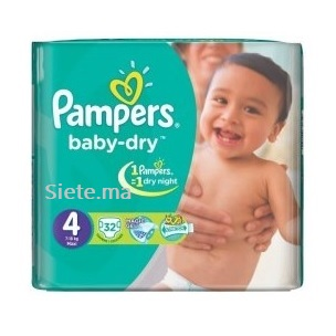 32 Couches Maxi Pampers T4 (7 - 18kg)