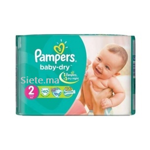 40 Couches Mini Pampers T2 (3 - 6kg)
