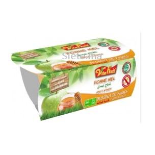 Compte Pomme Miel Dessert Vital Fruit 2 X 100g