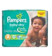 Couches Midi Pampers Premium T3 (4 – 9kg)