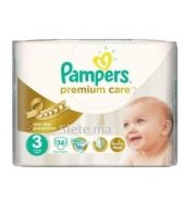 36 Couches Midi Pampers Premium T3 (4 – 9kg)