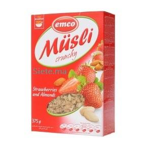 Bio Muesli Crunchy au Fraises et Amandes Emco 375g