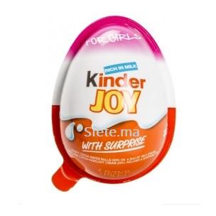 Oeuf en Chocolat avec Surprise Kinder Joy pour Filles