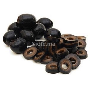 Olives noires en rondelles (200g)