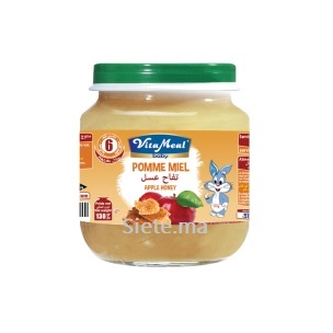 Petit Pot Dessert Pomme Miel Sans Gluten ni Lactose Vitameal Baby 130g